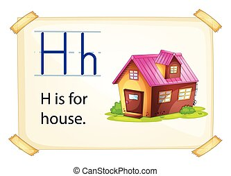 A letter H for house