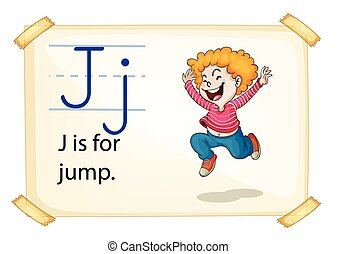 A letter J for jump
