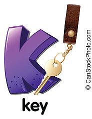 A letter K for key