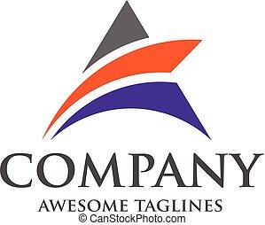 A letter logo design vector