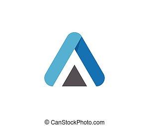 A Letter Logo Template vector icon design