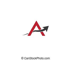 A letter logo vector icon