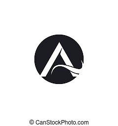 A letter logo vector icon illustration