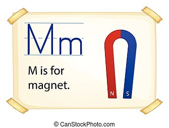 A letter M for magnet