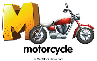 A letter M for motorcycle - Illustration of a letter M for ...