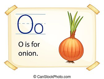 A letter O for onion