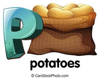 A letter P for potatoes