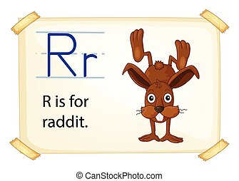 A letter R for rabbit