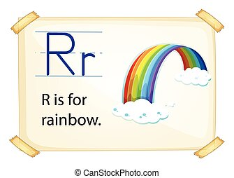 A letter R for rainbow