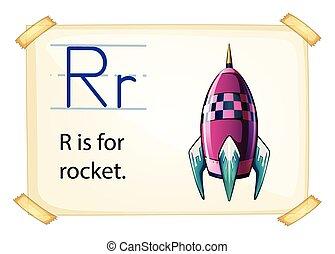 A letter R for rocket