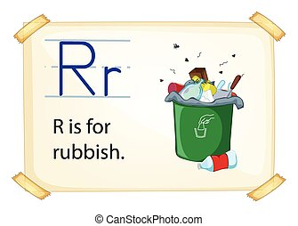 A letter R for rubbish