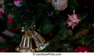A letter to Santa Claus under Christmas tree