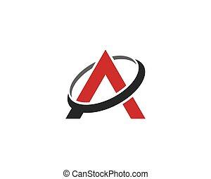 A letter vector icon illustration design