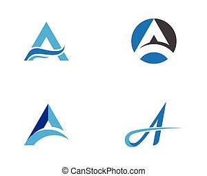 A Letter vector illustration icon Logo Template design