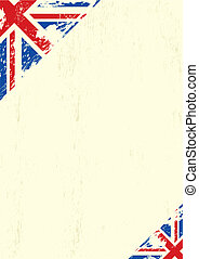 grunge UK - A letter with a grunge UK flag for your...