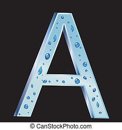 A Letter with drop water vector