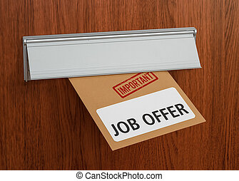 A letter with the label Job offer
