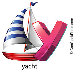 Illustration of a letter Y on a white background