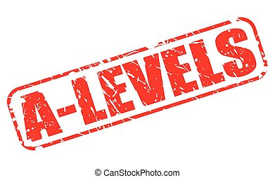 A-LEVELS red stamp text