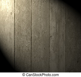 a light beam on the wooden background