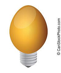 a light bulb egg