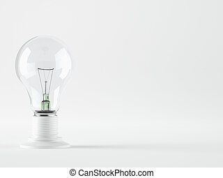 Light bulb, isolated, Realistic photo image - A Light bulb,...
