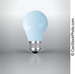 A light bulb. Vector Illustration.
