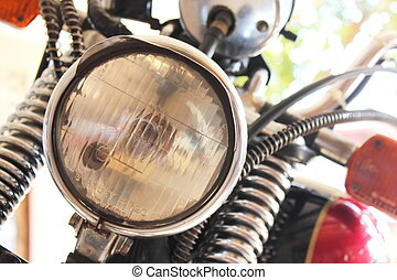 Front view of a motorcycle