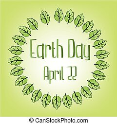 earth day - a light green background with text and a lot of...