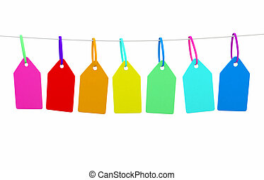 a line of bunting with blank tags ready for messgae - Ideal...