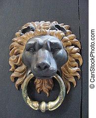 A Lion Door Knocker