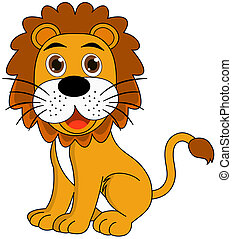 Lion sitting profile - photo#47