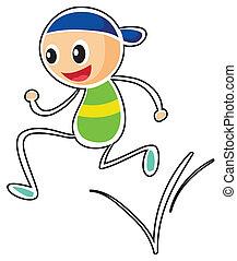 A little boy running - Illustration of a little boy running...