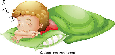 A little boy sleeping soundly