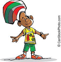 a little brazilian - a friend brazilian, happy with his...