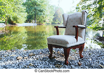 Chair at the lake
