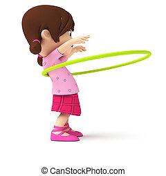 A little girl - 3d rendered illustration of a little girl