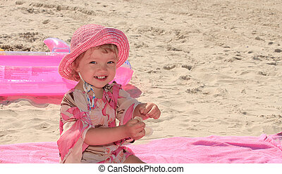 A little girl in the pink