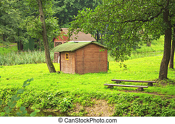 A little house in the woods