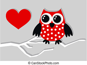 a little red owl love