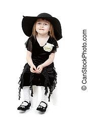A little sweet girl felt hat