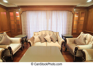 A living room with a luxurious
