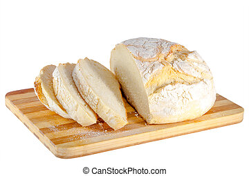 loaf of bread on a wooden board