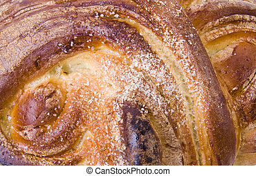 A loaf of challah bread for shabbat