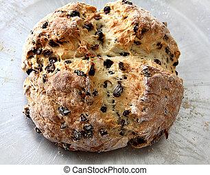 Irish Soda Bread - A loaf of Irish Soda Bread with raisins...