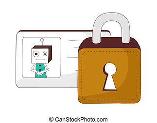 A lock and key