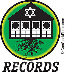 A logotype for a reggae record co