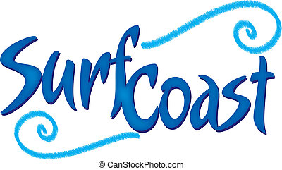 A logotype for a surf brand