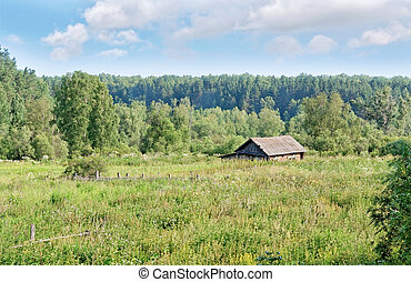 A lonely cabin in the Siberian Outback