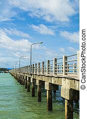 A long bridge above the sea